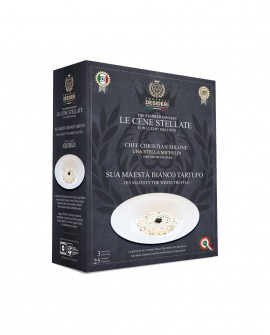 Sua Maestà Bianco Tartufo - Riso - Le Cene Stellate chef Christian Milone - 3 porzioni - Fratelli Desideri