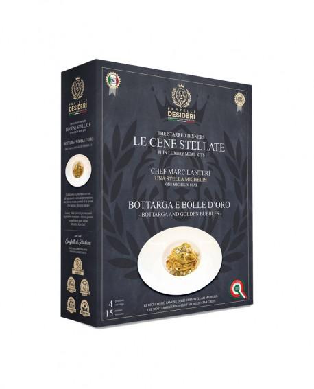 Bottarga e Bolle D'Oro - Spaghetti - Le Cene Stellate chef Marc Lanteri - 4 porzioni - Fratelli Desideri