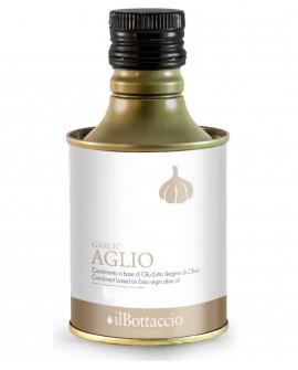 Olio Extravergine d'Oliva Italiano INFUSO al Aglio - 750ml - Olio il Bottaccio