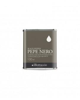 Condimento SPEZIATO alla PEPE NERO Olio Extravergine d'Oliva Italiano - 100ml - Olio il Bottaccio