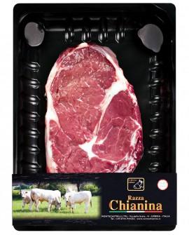 Bistecca senza osso o Entrecote di Carne Chianina - n.1 pezzo 400g skin - Carne Certificata - Macelleria Co.Pro.Car. San Nicolo