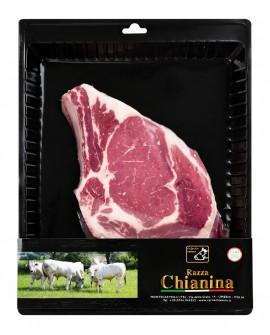 Costata con osso di Carne Chianina - n.1 pezzo 700g skin - Carne Certificata - Macelleria Co.Pro.Car. San Nicolo