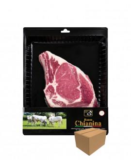 Costata con osso di Carne Chianina - n.1 pezzo 700g skin - cartone da 4 pezzi - Carne Certificata - Macelleria Co.Pro.Car. San N