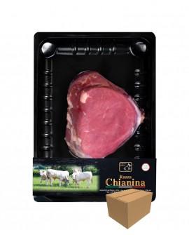 Filetto a fette di Carne Chianina - n.1 pezzo 250g skin - cartone da 8 pezzi - Carne Certificata - Macelleria Co.Pro.Car. San Ni