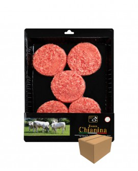 Hamburger di Carne Chianina da 170g - confezione n.5 pezzi 850g skin - cartone da 5 confezioni - Carne Certificata - Macelleria