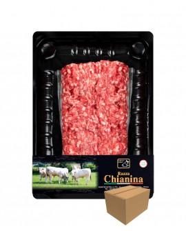 Macinato di Carne Chianina - n.1 pezzo 400g skin - cartone da 8 pezzi - Carne Certificata - Macelleria Co.Pro.Car. San Nicolo