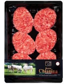Mini Hamburger di Carne Chianina da 73g - confezione n.6 pezzi 440g skin - Carne Certificata - Macelleria Co.Pro.Car. San Nicolo