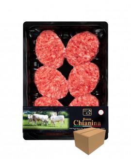 Mini Hamburger di Carne Chianina da 73g - confezione n.6 pezzi 440g skin - cartone da 8 confezioni - Macelleria Co.Pro.Car.