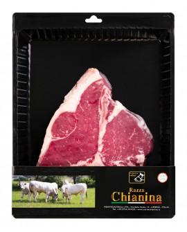 Bistecca di Fiorentina di Carne Chianina - n.1 pezzo 900g skin - Carne Certificata - Macelleria Co.Pro.Car. San Nicolo