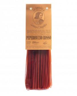 Peperoncino Rosso Linguine Germe di Grano Lorenzo il Magnifico 250 gr Pasta Aromatizzata - Antico Pastificio Morelli