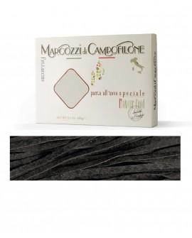 Fettuccine al nero di seppia - pasta lunga all'uovo - astuccio 250g - Pastificio Marcozzi