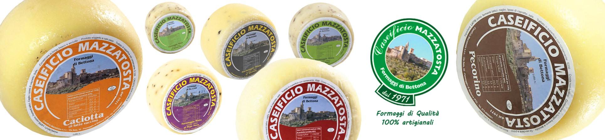 formaggio al tartufo e pecorino vendita online - Formaggi di Bettona Caseificio Mazzatosta